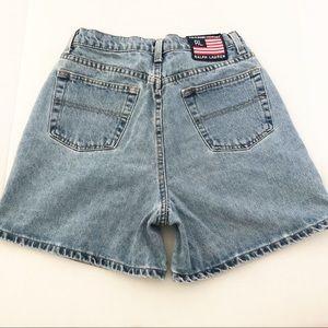 RL Polo Jeans Vintage High Rise Mom Shorts